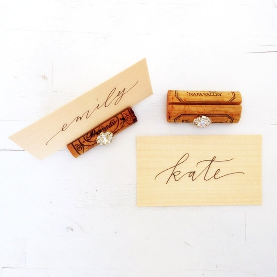rustic wedding place card holder wine cork wine tasting sign party table wine theme name card holder winery wedding table decor rustic glam