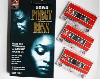 Porgy and Bess. George Gershwin. Simon Rattle. 1970s Cassette Tape Music Recording. Booklet.