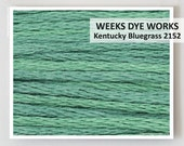KENTUCKY BLUEGRASS 2152  : Weeks Dye Works WDW hand-dyed embroidery floss cross stitch thread at thecottageneedle.com