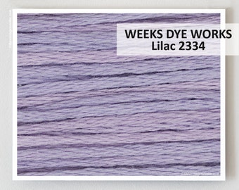 LILAC 2334 : Weeks Dye Works WDW hand-dyed embroidery floss cross stitch thread at thecottageneedle.com