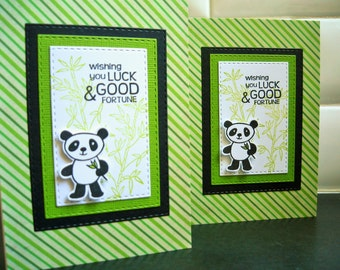 Good Luck Card, Panda Card, New Job Card, Chinese New Year Card