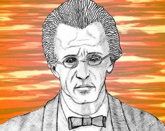Gustav MAHLER - a portrait art print of the great Austrian composer.