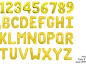 "16"" or 34"" Gold Foil Mylar Letter Number Balloons (2 DAY SALE)"