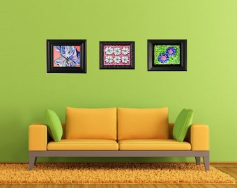 30% Off! A Wall of Paintings... Original Art on Canvas....Framed and Ready to Hang!