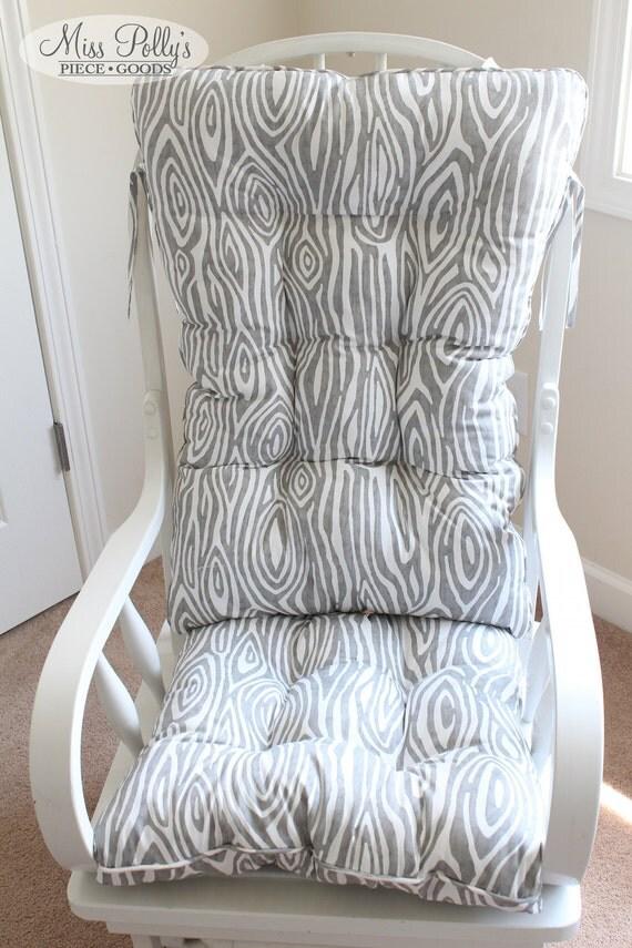 Custom Chair Cushions/ Glider Cushions/ Rocking Chair Cushions/ Glider  Replacment Cushions- SQUARED TOP - Custom Chair Cushions/ Glider Cushions/ Rocking Chair