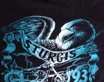 1993 Sturgis Black Hills Motorcycle Rally t shirt usa XXL