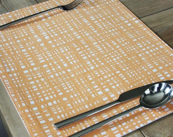Handmade Placemats  - Crosshatch  - Set of 4 - Additional Colors available
