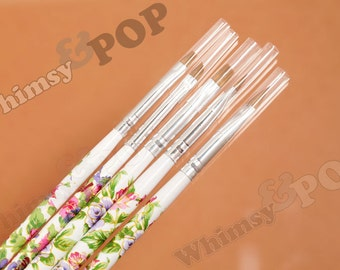 5 - Brush Set Nail Art Tool Model Painting Small Detail Work, Brush Set, Brush Tools, 18cm