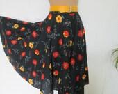 Cotton Circle Skirt Vintage / Full / Size EUR40 / UK12
