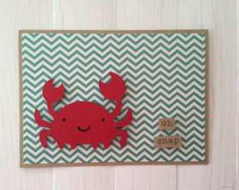 Oh Snap Crab Card