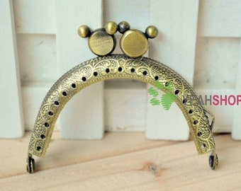 Half Round Mickey Mouse Mini Purse Frame - 7.5cm / 2.9 inch (MPF-11) - Choose One Color