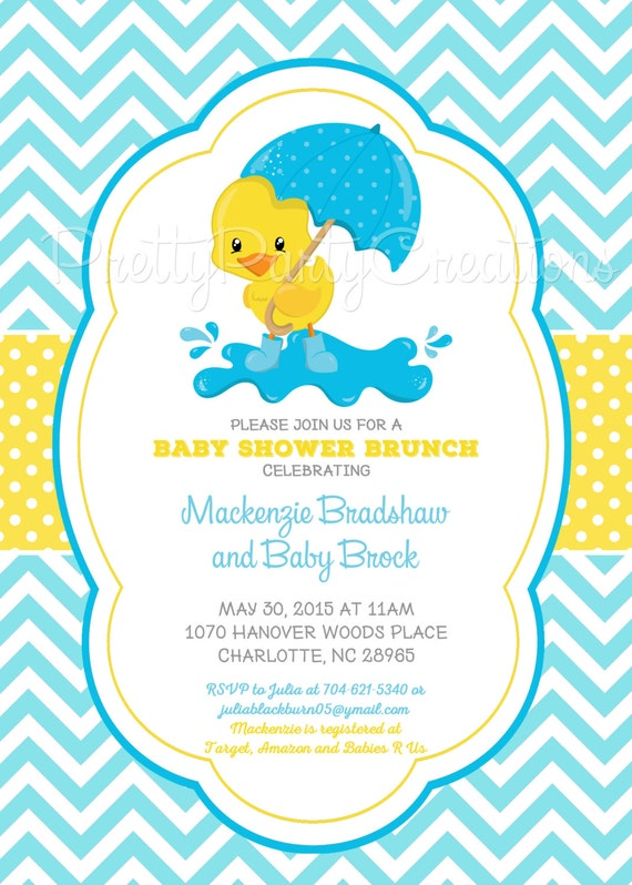little duck baby shower invitation u print 4 to choose