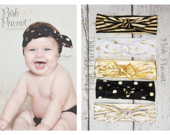Top Knot headband, Baby top knot headband, top knot head wrap, toddler retro head wrap, knot headband, Turban headband, Cotton headband,