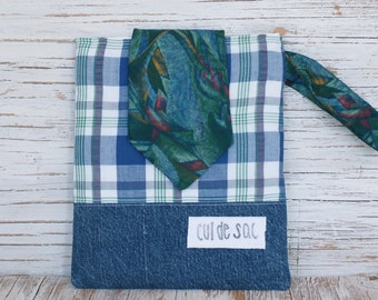 Sale! 30% off! Eco-friendly padded iPad sleeve or case made from upcycled fabrics and necktie