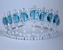 Turquoise Diva Princess Tiara, Birthday Tiara, Prom Tiara, Pageant Tiara