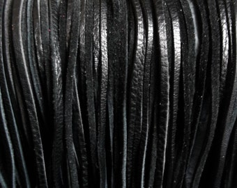 Genuine Leather Cords/Leather String(25Pcs)Genuine Leather/String.Craft Supplies/ Black.For Accessories,Bags,Jewelry,Toys,Decorations..