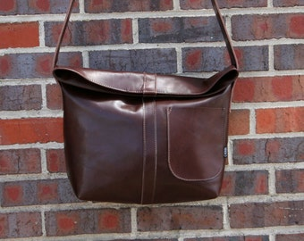 Red Brown Leather Messenger Bag-Ready to ship-Every day bag-Over the shoulder bag-unique bag-rustic-Christmas gift