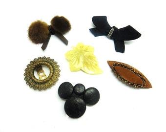Vintage Jewelry Lot Shoe Clips Dress Clips Destash Estate Wear Resale Craft Art Deco Accessories