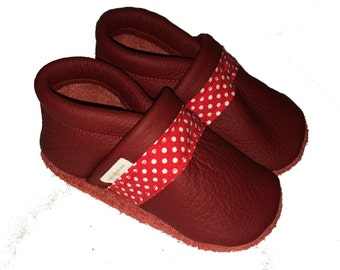 Dotty leather baby shoes