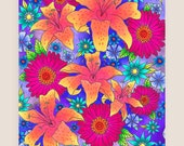 11x14-in Lillies Illustration Print.