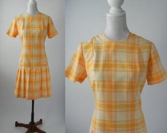 Vintage Dress, 1960 Dress, Vintage 60s Dress, Vintage Orange Dress, Flapper Style Dress, Retro 60s Dress, Mod Orange Dress, Sixties Dress