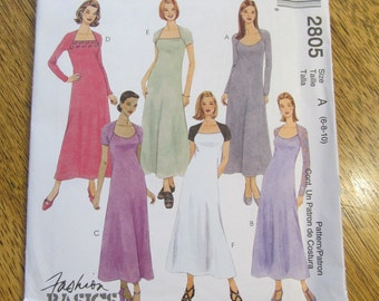 EASY, Simple & Elegant Fit and Flare Knit Summer Dress - Choose Your Size - UNCUT Sewing Pattern McCalls 2805