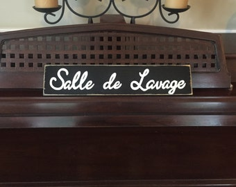 Salle de Lavage French Country Decor Sign Plaque Paris Apt Chic