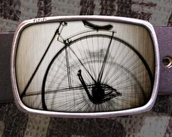 Vintage Bike Belt Buckle, Penny Farthing Buckle 299