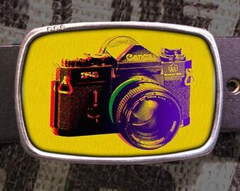 Vintage Camera Belt Buckle 727