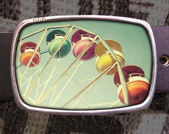 Ferris Wheel Ride Belt Buckle 733