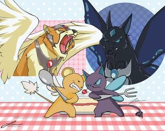 Kero vs. Suppi - Card Captor Sakura Print
