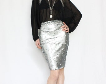 Scale sequin skirt
