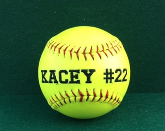 Customized Embroidered Softball