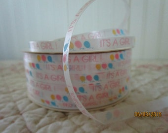 It's A Girl Vintage Curling Ribbon