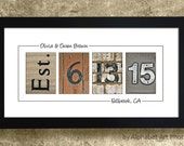 HOME DECOR Gift for COUPLES - Framed, Wedding Date Numbers, Gift Idea For Wife, Wedding Date Sign