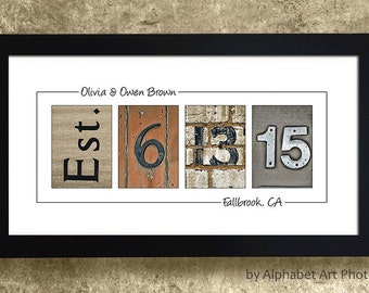 LAST NAME SIGN Home Decor Alphabet Photo by AlphabetArtPhotos