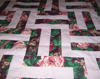 Rail Fence Quilt Top-37x44 inches
