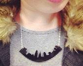 Cleveland Skyline Necklace Acrylic - Silver Gold Black White