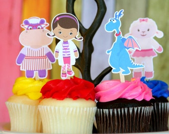Doc McStuffins Cupcake Toppers Set of 12