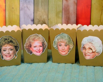 Golden Girls - Golden Girls Favor Boxes- Dorothy- Blanche- Rose- Sophia- Golden Girls Party- Birthday Party- Reunion- Just for Fun!