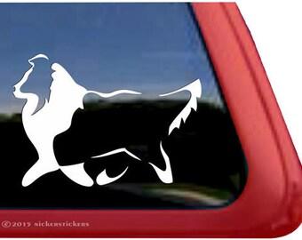 Sheltie | DC383PL | High Quality Adhesive Vinyl Shetland Sheepdog Window Decal Sticker