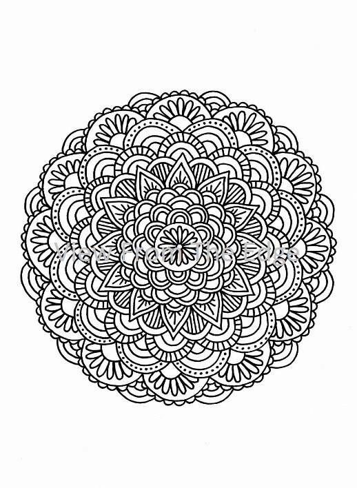 Mandala Coloring Page Mehndi Henna Printable By