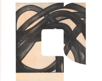 """Abstract Art Print . Fine Art Etching . Black and White Art: """"Swatch 25"""". Print Size 12"""" x 13"""". unframed"""