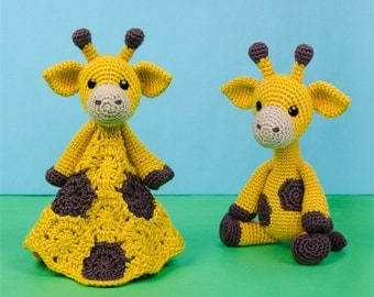 Combo Pack - Geri the Giraffe Lovey and Amigurumi Set for 7.99 Dollars - PDF Crochet Pattern - Instant Download - Special Offer Pack