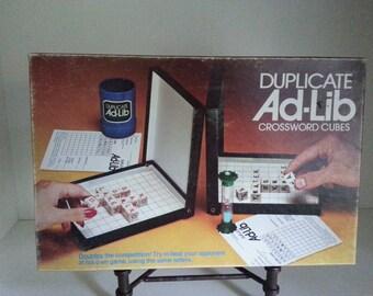 1976 Duplicate Ad-Lib by Milton Bradley