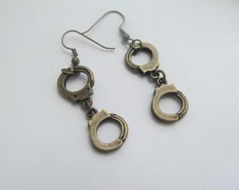 HandCuff Dangle Hoop Earrings