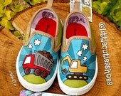 Toddler size 4 Trucks shoes