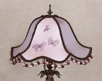 SALE - Victorian Lamp Shade, Lampshade, OOAK - Christmas Gift