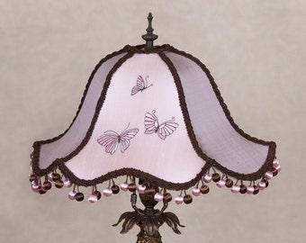 Victorian Lamp Shade, Lampshade, OOAK