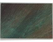 "Dark Earthy Abstract Art ACEO 2.5"" x 3.5"" Small Format Art SFA Original Acrylic Painting - Brandy Woods"